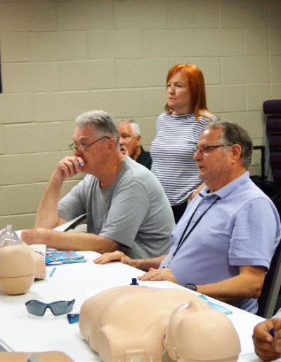 Group of CPR class students