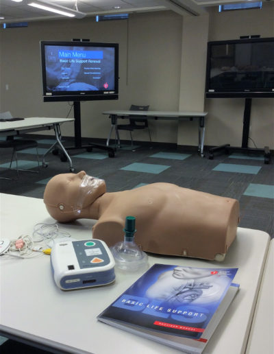 BLS Equipment: Mannequin, Manual, AED